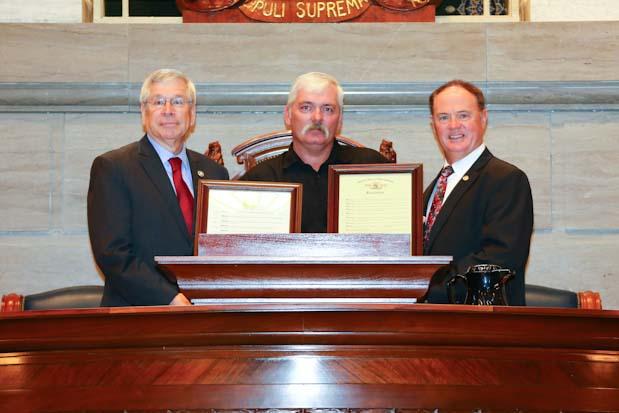 Darin Haggett with Sen Wayne Wallingford & Rep Paul Fitzwater